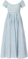 Gl Hrgel Short Sleeve Scoop Neck Midi Dress