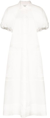 Lee Mathews Elsie puff sleeve maxi dress