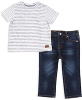 7 For All Mankind Boys' Striped Tee & Jeans Set
