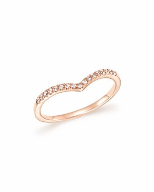 Bloomingdale's Diamond Micro Pave Stackable Chevron Band in 14K Rose Gold, 0.10 ct. t.w. - 100% Exclusive