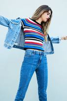 Forever 21 FOREVER 21+ Contemporary Multi-Stripe Top