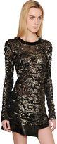 Isabel Marant Sequin Embellished Silk Georgette Top