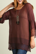 Umgee USA Brown Sheer Sweater