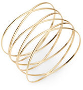 Dogeared Goldtone Wire Bangle