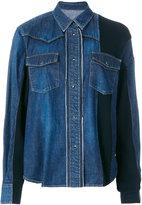 Sacai panelled denim jacket - women - Cotton/Nylon/Wool - 2