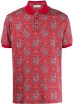 Etro short-sleeved paisley polo shirt