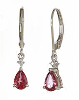 JCPenney FINE JEWELRY LIMITED QUANTITIES Genuine Pink Sapphire Drop Earrings