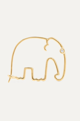 Yvonne Léon 18-karat Gold Diamond Earring - one size
