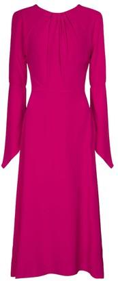 Victoria Beckham Open-back silk midi dress
