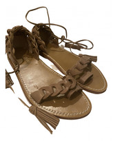 Thumbnail for your product : Zimmermann Camel Leather Sandals