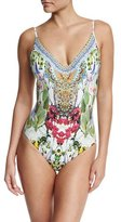 Camilla V-Neck Scoop-Pack One-Piece Swimsuit, Exotic Hypnotic