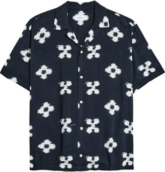 Saturdays NYC Canty Ikat Floral Short Sleeve Button-Up Camp Shirt