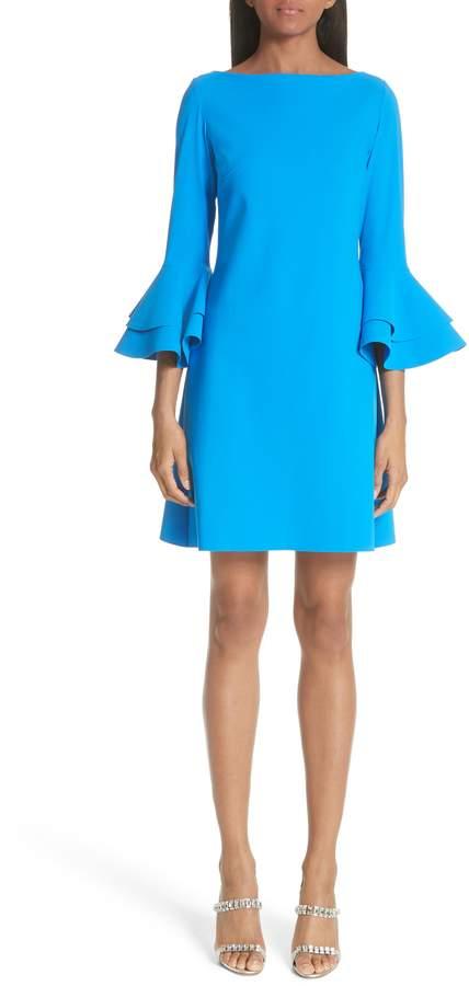 Chiara Boni Natalia Ruffle Bell Sleeve Dress