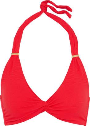 Melissa Odabash Africa Twist-front Stretch-pique Halterneck Bikini Top