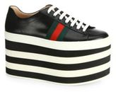 Gucci Peggy Leather Platform Sneakers