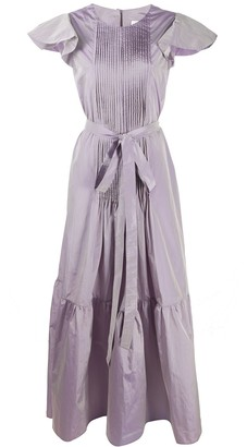 Loulou Pleated Bib Dress
