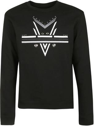 Les Hommes Darts Printed Sweatshirt
