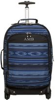PBteen Getaway Blue Surf Stripe Carry-On Suitcase