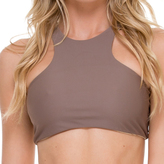 Luli Fama High Neck Sporty Bra In Sandy Toes (L176480)