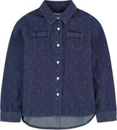 Jean Bourget Stone-washed blue chambray shirt