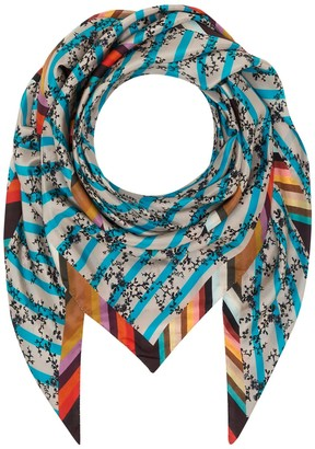 Klements Giant Square Scarf In Treasure Print