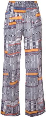 Lemlem Kente printed beach trousers
