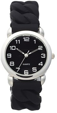 BP Stretch Rubber Link Bracelet Watch, 34mm