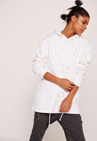 Missguided Lace Up Front Sweatshirt White