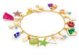 Shashi Lilu Charm Clasp Bracelet