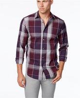 Alfani Men's Big and Tall Plaid Shirt, Classic Fit