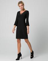 Le Château Knit V-Neck Tunic Dress
