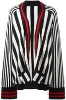 Haider Ackermann striped open cardigan