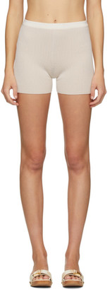 Jacquemus SSENSE Exclusive Beige and Off-White Le Short Arancia Shorts