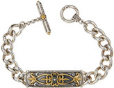 Konstantino Floral Curb-Chain ID Link Bracelet