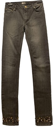 Acne Studios Skin 5 Grey Cotton - elasthane Jeans for Women