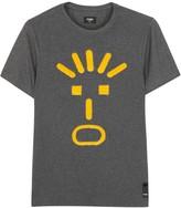 Fendi Face-jacquard Cotton Blend T-shirt
