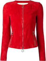 Drome collarless leather jacket - women - Lamb Skin - S