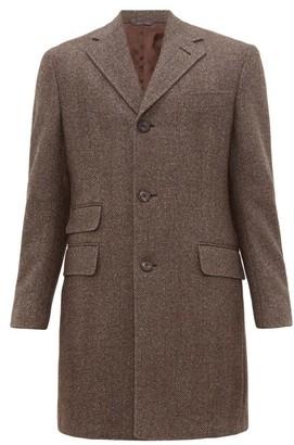 Thom Sweeney - Single-breasted Herringbone-wool Overcoat - Mens - Brown