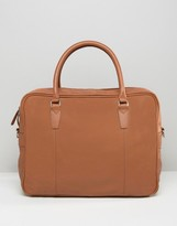 Asos Briefcase in Tan Leather