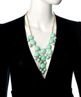 Blu Bijoux Gold And Aqua Mini Bubble Necklace