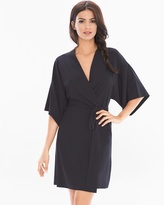 Soma Intimates Chiffon Short Sleeve Robe Black