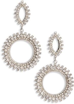 CRISTABELLE Crystal Spike Hoop Earrings