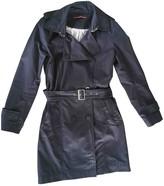 Comptoir des Cotonniers Blue Cotton Trench Coat for Women