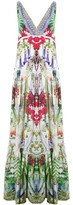 Camilla Exotic Hypnotic Tiered Gathered V-Neck Dress