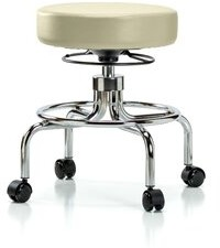 Symple Stuff Anguiano Screw Lift Desk Height Adjustable Lab Stool Symple Stuff Seat Color: Adobe, Foot Type: Casters