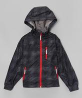 Hawke & Co Black & Red Optic Dot Jacket - Toddler & Boys