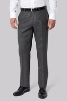 Moss Bros Tailored Fit Grey Check Trousers