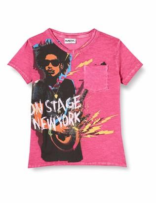 MEK Boy's T-Shirt Cold Dye Con Taschino Kniited Tank Top