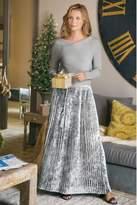 Soft Surroundings Vivian Velvet Pleated Skirt