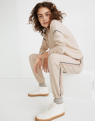 Madewell MWL Superbrushed Contrast-Stitched Easygoing Sweatpants